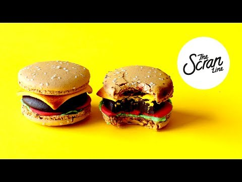 HAMBURGER MACARONS! - The Scran Line