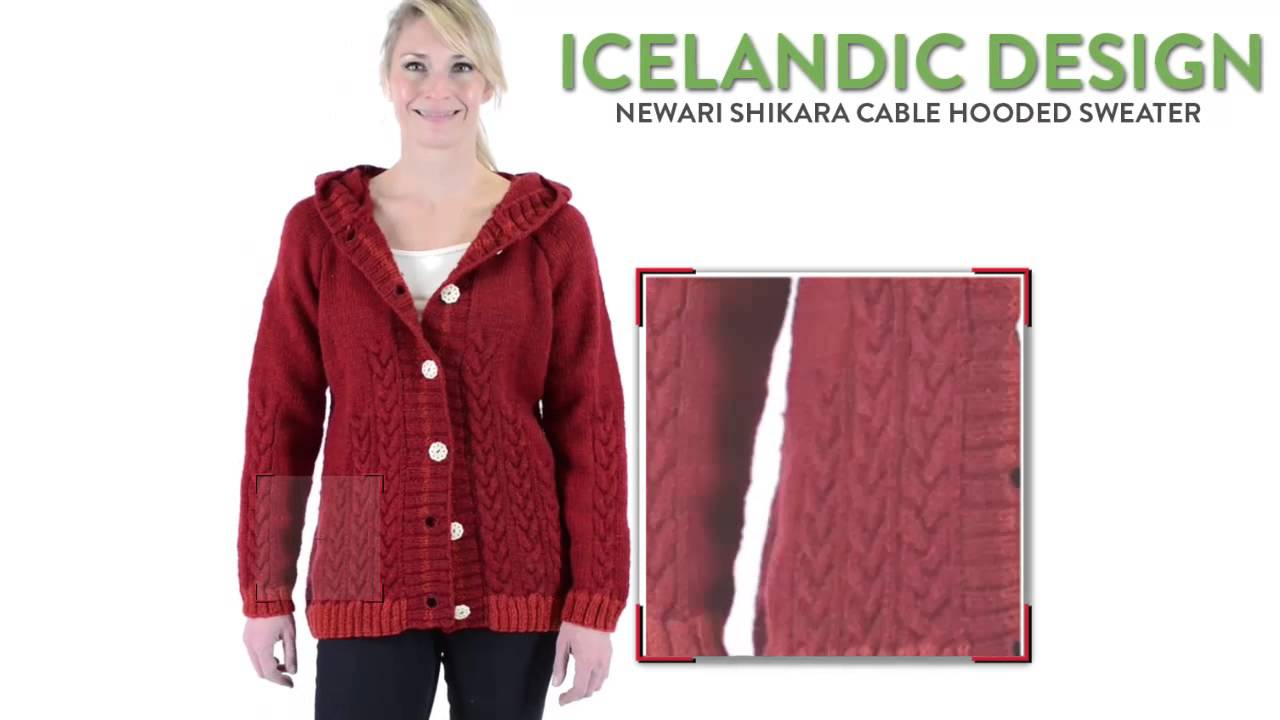 Icelandic Design Newari Shikara Cable Hooded Sweater - Wool ...