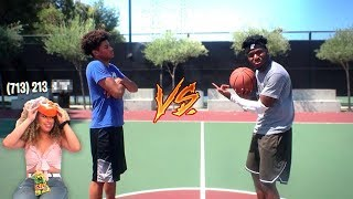 1v1 Basketball vs Angry Kid! (Winner gets Miss Thotiana's Phone Number!)