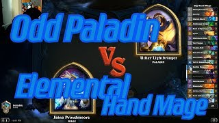 Elemental Hand Mage vs Odd Paladin - Hearthstone
