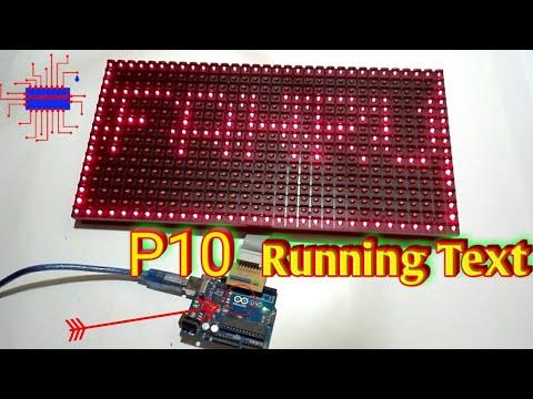 Arduino project -  running text p10 - fahrudin afif