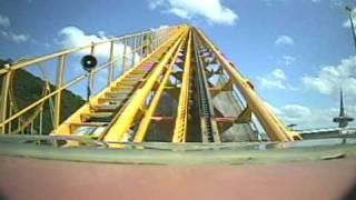 black hole express roller coaster pov kumdori land s korea