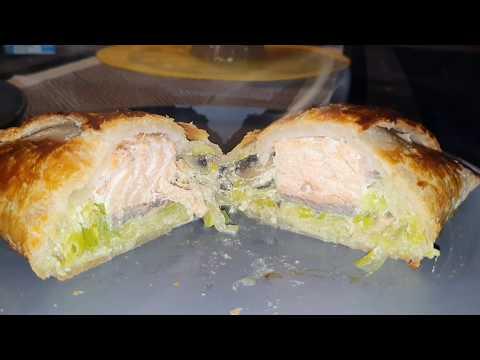 feuilleté-au-saumon-sur-fondue-de-poireau-et-champignons---sans-gluten-et-sans-lactose