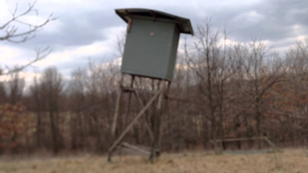 Epic Fail Attempting To Down A Deer Stand Youtube