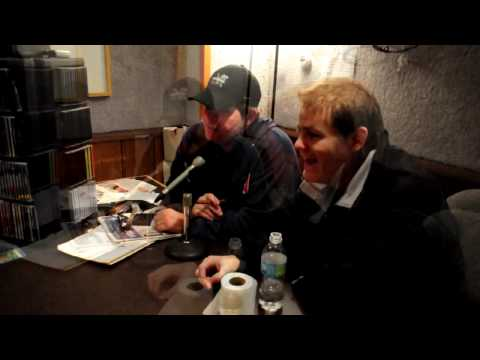 Bob Zany and Greg Warren in the Buzz Studio