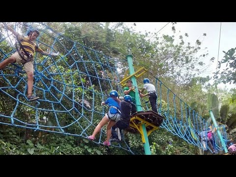 Part 3 Rope Courses at Mountain View Nature's Park Cebu New Year 2016 Family Bonding