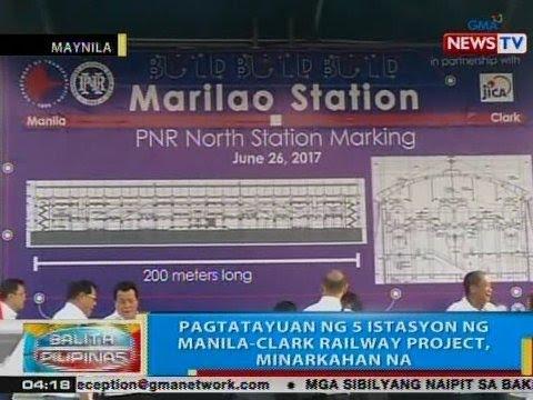 BP: Pagtatayuan ng 5 istasyon ng Manila-Clark Railway Project, minarkahan na