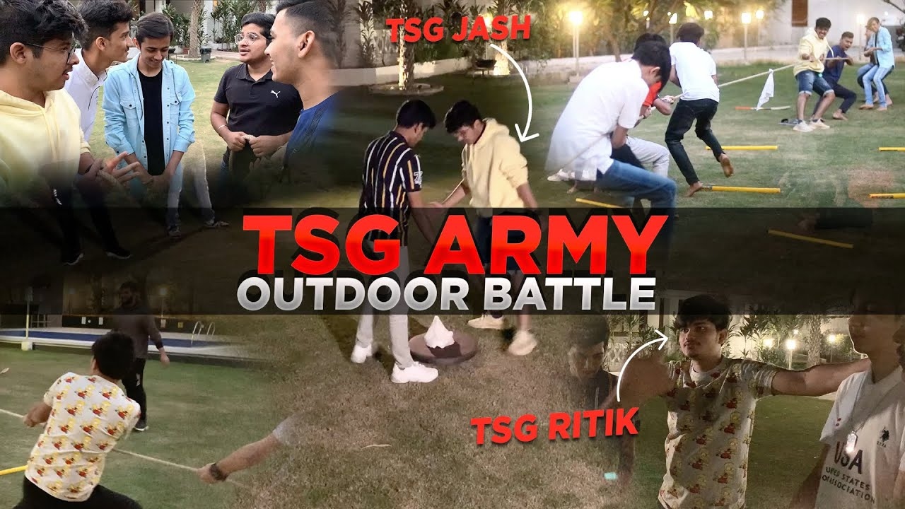 TSG ARMY OUTDOOR BATTLE || 5 Vs 5 Kisme Kitna Hai Dum || Team Mann Vs Team Abhee Mad House Ep 5