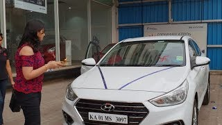 Hyundai Verna Polar White|Taking Delivery,Doing Pooja,Documentation,Key Handover|Exterior&Interior