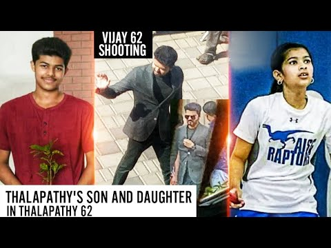 Actor Vijay's Daughter And Son To Make Debut Singing In Thalapathy 62 - Vijay 62 Shooting Spot Image