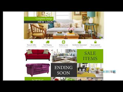 Home Furnishing EBay Template TMT | Free Template  Cedar Temple