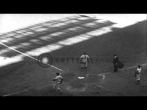 New York Yankees Win Against Milwaukee Braves By 3-1 In The Opening Game Of The 1...HD Stock Footage
