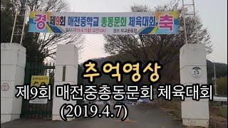 매전중총동문회 2019년 4월 7일 추억에 체육대회