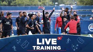 Les 15 premières minutes de l'entraînement au centre Ooredoo   #PSGlive
