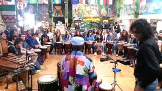 African Drumming workshop with students