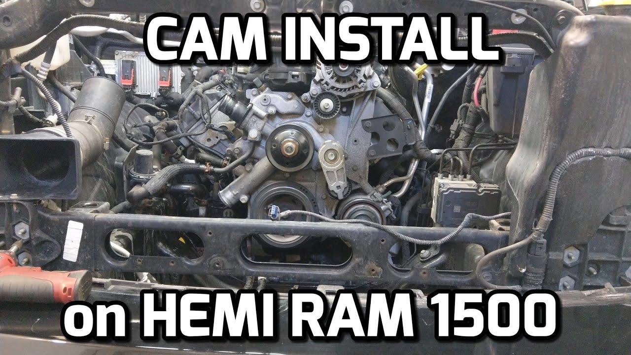 HEMI RAM 1500 CAM INSTALL and START UP!!!
