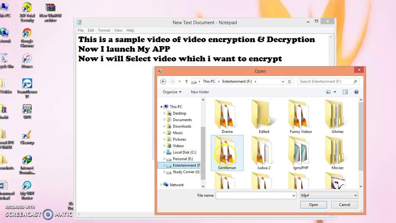 Video Encryption & Decryption Software C#