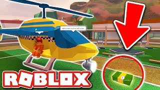 THE TAXI ESCAPE HELICOPTER TROLL!! (Roblox Jailbreak)