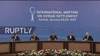 LIVE  Syria talks in Astana   press conference (ENGLISH)
