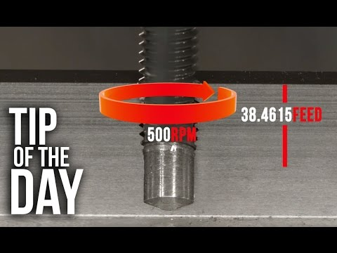 Easily Program a Tap in Inch Mode on your Haas VMC – Haas Automation Tip of the Day
