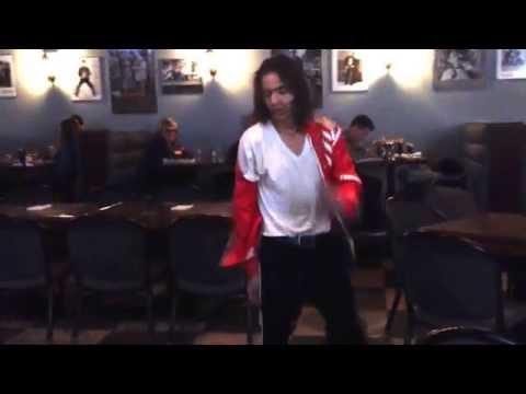 'The Moonwalker' performing some Michael Jackson on Friday Night Karaoke.
