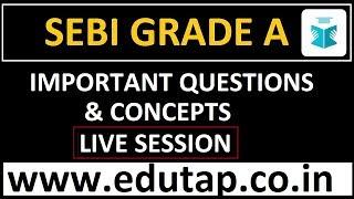 SEBI Grade A 2018 Recruitment | Important Questions and Concepts