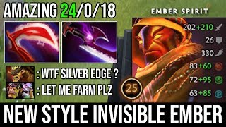 New Style Invisible Ember Silver Edge Build Deleted Alchemist & Bristleback Easy 24Kills DotA 2