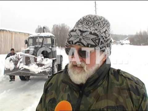 видео: Чтобы спасти родное село из снежного плена, житель Новоселок сам построил бульдозер