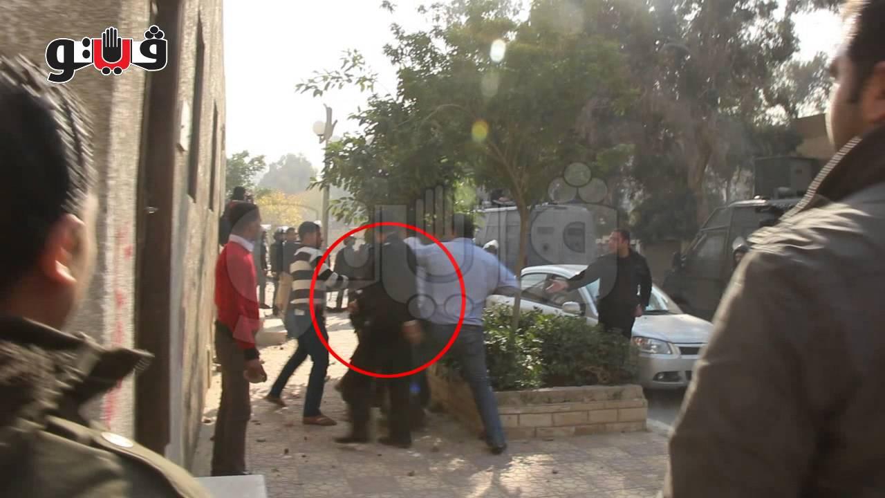 """فيتو - الأمن يعتدي على طالبة منتقبة بـ """"الأيدي والأرجل"""" بجامعة الازهر"""