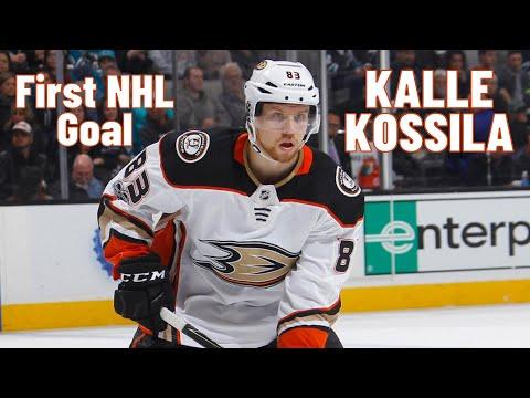 Kalle Kossila #83 (Anaheim Ducks) first NHL goal 26.10.2017