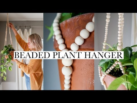 DIY Beaded Plant Hanger Tutorial - Wood Beads