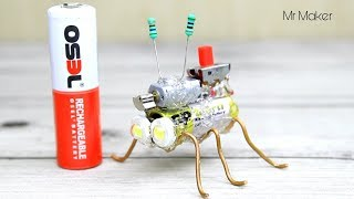 Video How to make simple robot - Mini Insect download MP3, 3GP, MP4, WEBM, AVI, FLV Juli 2018