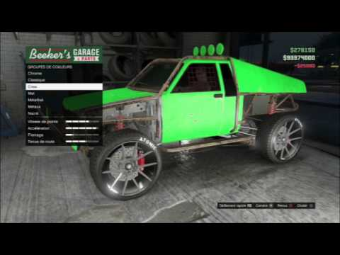 Gta 5 online karin rebel la voiture la moin cher custom for Voiture garage gta 5