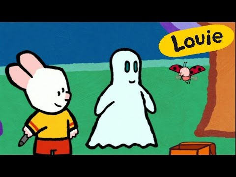 Cartoon for kids - Louie, draw me a ghost HD   Cartoon for kids