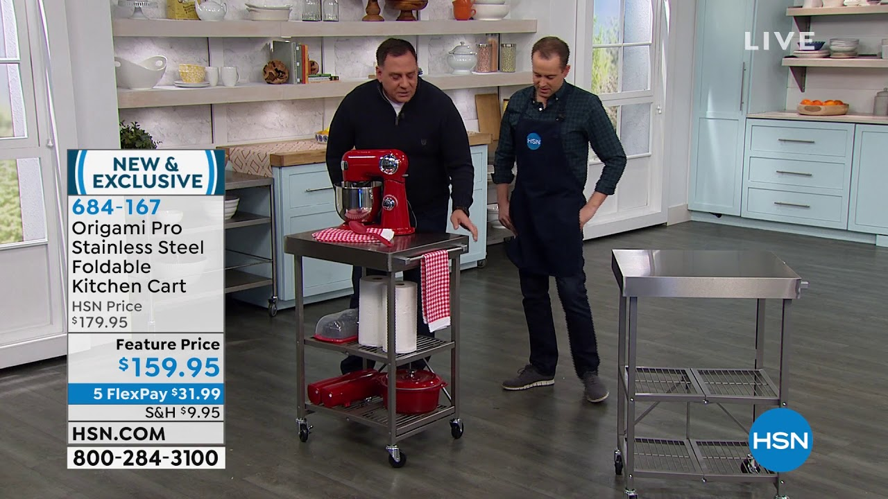 Origami Kitchen Islands and Carts | HSN | 720x1280