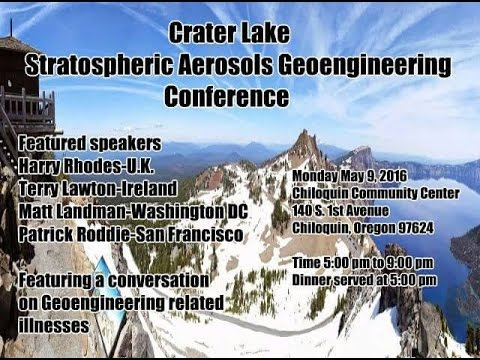 Terry Lawton Presenting 5 Years of His Research on Climate-Engineering, Chiloquin, Oregon, May 10, 2