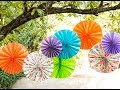 Wall decor: How to make a Wall Paper Fan - Tutorial