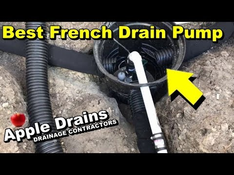 Best Pump, French Drain, Crawl Space or Yard Drain. by Apple Drains, Drainage Contractor