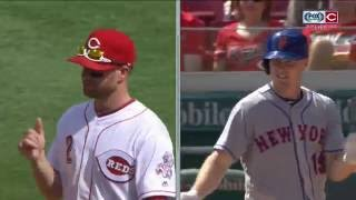 Cincinnati Reds' Zack Cozart on seeing Jay Bruce with the New York Mets: 'It's kind of weird'