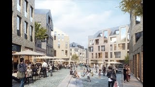 Work will begin in 2019 to create a new quarter within the medieval town centre of aachen, 3ha site immediately adjacent cathedral, one origi...