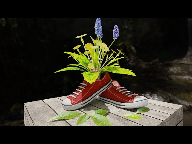 Old School Sneakers Flower Pot