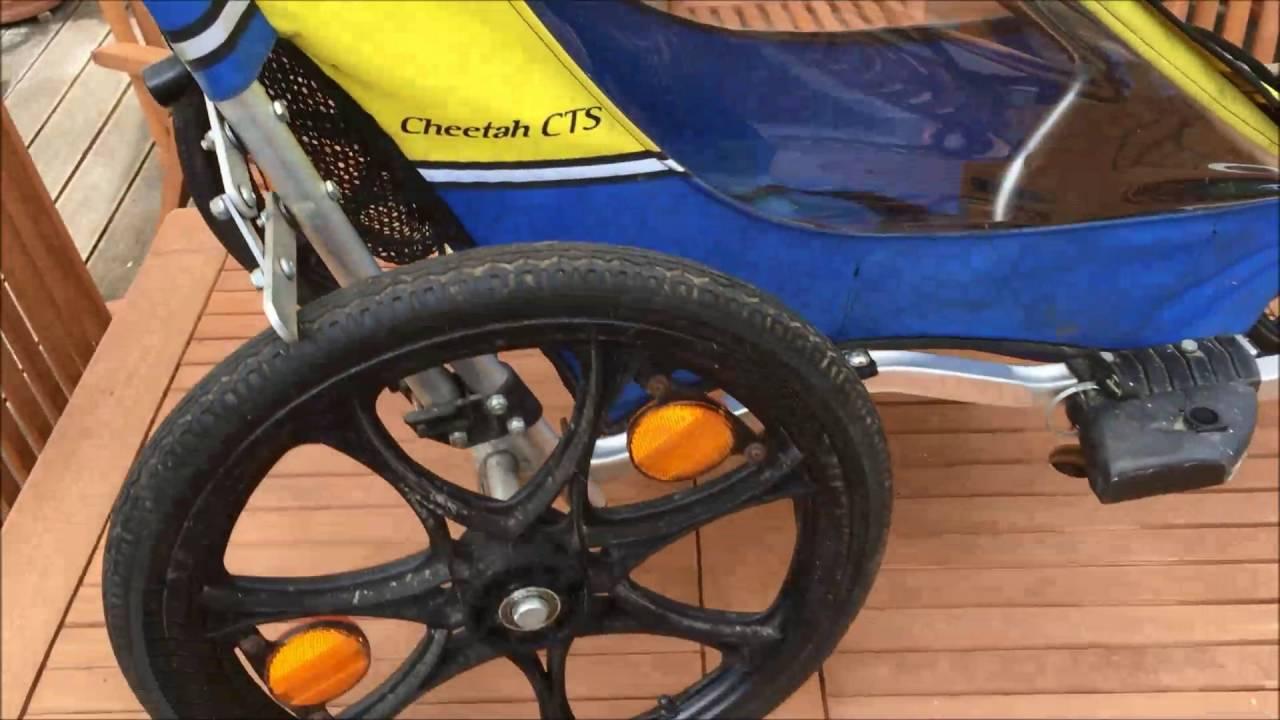 Chariot Cheetha Cts Fahrradanhanger Kinderjogger Einsitzer Blau