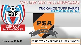 2017 EDP CUP FALL SHOWCASE -PSA PREMIER ELITE 02 NORTH vs. MARYLAND UNITED FC 2002 PREMIER