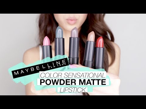 NEW Maybelline Color Sensational POWDER MATTE Lipstick Swatches!