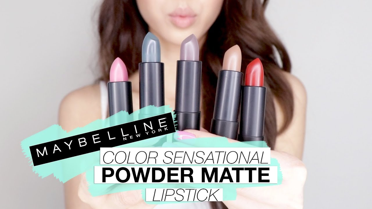 New Maybelline Color Sensational Powder Matte Lipstick Swatches Youtube