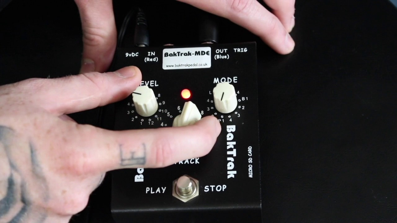 BakTrak the Ultimate MP3 and WAV Backing Track Pedal - 'Matt