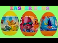 3 Easter Eggs with Trolls, Lion Guard & Finding Dory