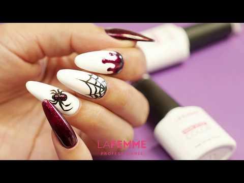 Tutorial Nail Art Halloween Smalto Semipermanente Non Stop Color - La Femme thumbnail