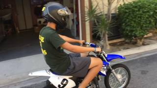 Jason on Yamaha TTR110 one lesson is all it takes