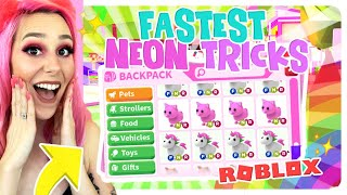 THE FASTEST WAY TO GET NEON PETS IN ADOPT ME.. Adopt Me Life Hacks (Roblox)